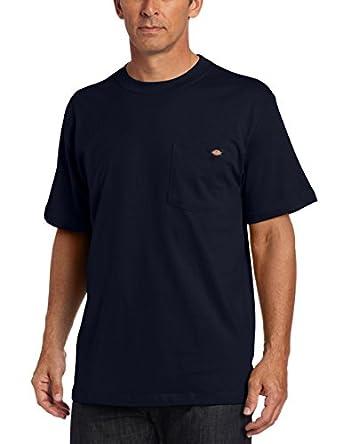Dickies Men's Big-Tall Short Sleeve Pocket Tee, Dark Navy, LTL
