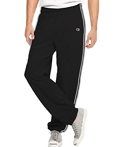 Champion Men's Big & Tall Jersey Sweatpants 4XL BLK/ HTH GRY