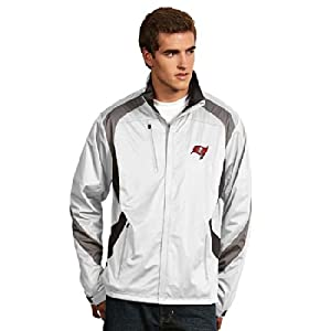 Tampa Bay Buccaneers Tempest Jacket (White) by Antigua