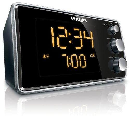Philips AJ 3551 Radio-réveil Tuner FM Affichage LED Noir/argent