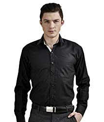 Frankline Men's Formal Shirt (Frankline-97_ Black _40)