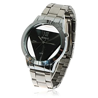 A112 Sliver Unique Triangle Modern Art Trend Electroplating Smooth Watches