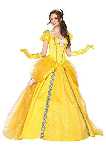 Leg Avenue Womens Disney Sexy Princess Deluxe Belle Ball Fancy Halloween Costume