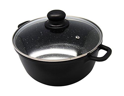 Cookmate Die-Cast Aluminum Casserole Pot with Glass Lid, 5 quarts (5 Qt Pot Lid compare prices)