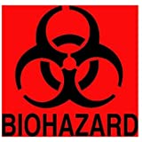 "Rubbermaid Commercial Products FGBP1 ""Bio Hazard"" Can Label"