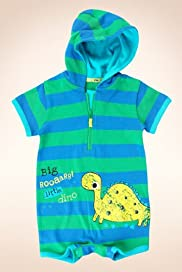 Pure Cotton Dinosaur Striped Romper [T78-6844L-Z]
