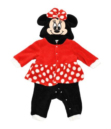 (ディズニー)Disney もこもこフリース 着ぐるみロンパース 70cm ミニーマウス