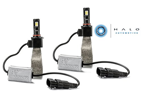 Halo Automotive Premium Fanless 9005 LED Conversion Kit - 40w 8,000Lm 6000K White CREE - 2 Year Warranty (2014 Dodge Charger Halo Lights compare prices)