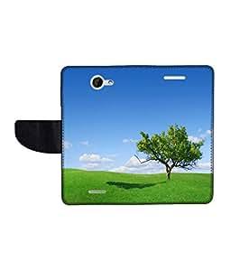 KolorEdge Printed Flip Cover For HTC Desire 516 Multicolor - (50KeMLogo09120HTC516)