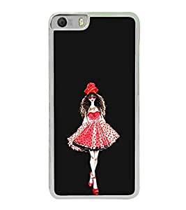 Girl in a Beautiful Dress 2D Hard Polycarbonate Designer Back Case Cover for Micromax Canvas Knight 2 E471