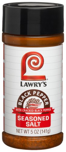 Lawrys Black Pepper Seasoned Salt, 5-Ounce Bottle