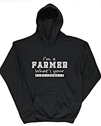 HippoWarehouse I'm a Farmer What's Your Superpower? kids unisex Hoodie hooded top