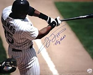 Autographed Hand Signed 16 X 20 Frank Thomas Chicago White Sox 8x10 Photo by Hall of Fame Memorabilia