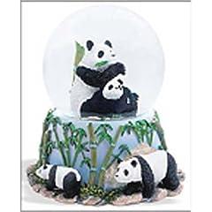 Panda Bears Musical Snow Globe - Born Free