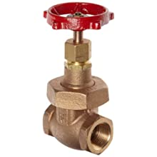 Milwaukee Valve 1186 Series Bronze Gate Valve, Heavy Duty Service, Class 300, Non-Rising Stem, NPT Female