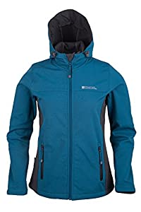 Mountain Warehouse Exode Femmes Veste Softshell Bleu Sarcelle 38