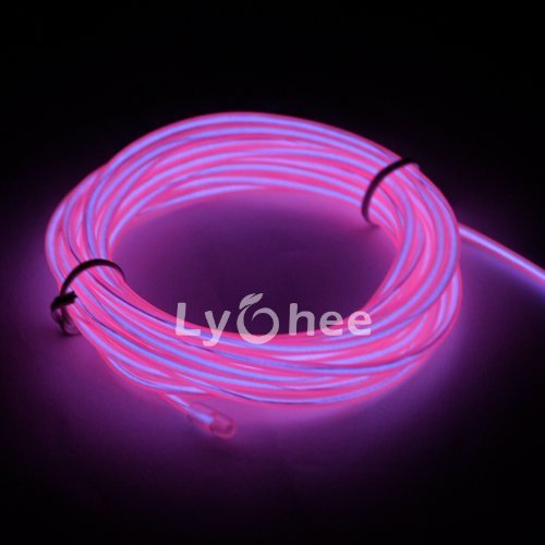 Lychee® 15ft Neon Light El Wire w/ Battery Pack for Parties, Halloween Decoration (pink) Color: Pink Size: 15ft Model: (Hardware & Tools Store)