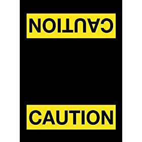 "NoTrax 194 Safety Message Floor Mat with Vinyl Backing, ""Caution"", 3' Width x 5' Length x 3/8"" Thickness, Black"