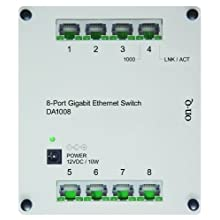 On-Q / Legrand DA1008 8-Port Gigabit Switch