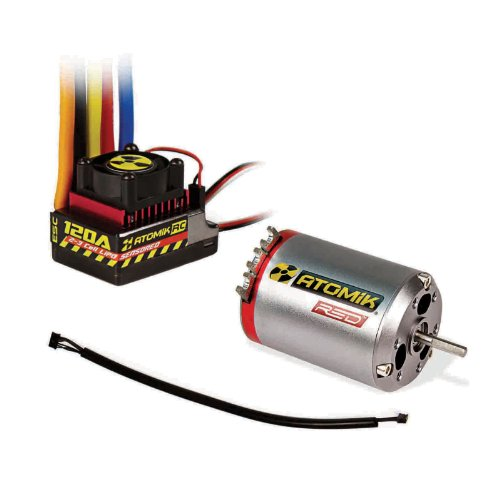 Atomik Red 540 13.5T 2700kv Brushless Sensored Motor 120A ESC Combo Fits: 1:10 RC Traxxas, Team Associated, Losi, and more (Novak Esc Motor Combo compare prices)