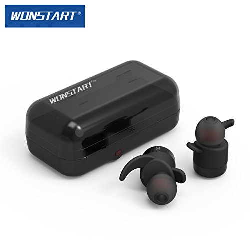 wonstart w302 true wireless bluetooth earbuds headphone comes with charging c. Black Bedroom Furniture Sets. Home Design Ideas