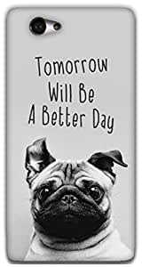 The Racoon Grip happy pug hard plastic printed back case / cover for Sony Xperia M2