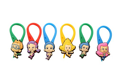 APSILON Multicolor Rubber String Zipper Pulls - Bubble Guppies #1