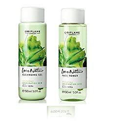Oriflame Love Nature Cleansing Gel and Face Toner Aloe Vera - 150ml each