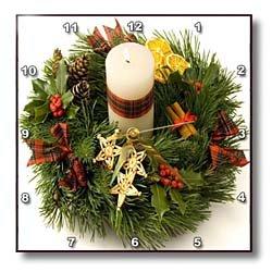 Advent Wreath - 10x10 Wall Clock