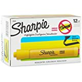 Sharpie Accent Tank-Style Highlighters, 12 Yellow Highlighters(25005)