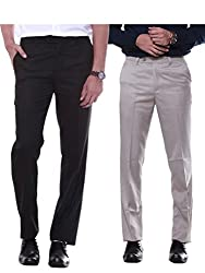 Sangam Apparels Set of 2 Mens Formal Trousers