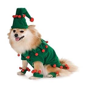 Elf Dog Christmas Pet Costume by Rubie's