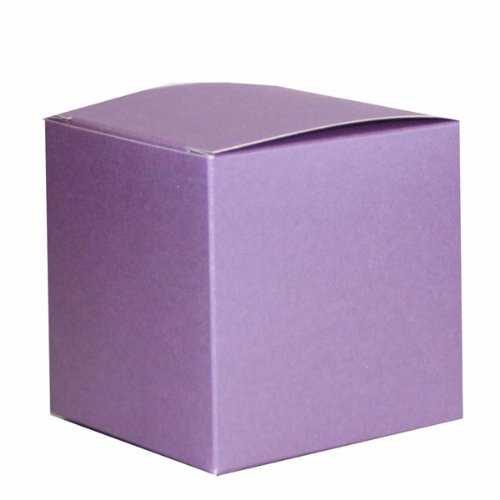 Flieder Perlmuttartige Geschenkbox/Kiste, 75 x 75 x 75 mm