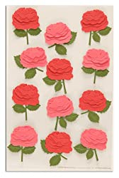 Martha Stewart Crafts Stickers Blooming Rose Pink/Red By The Package