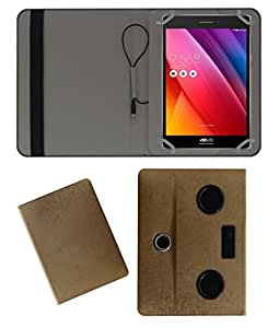 Acm Portable 360° Rotating Music Speaker & Leather Flip Cover For Asus Zenpad 7.0 Tablet Rotate Case Holder Cover Stand Golden