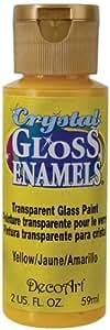 DecoArt Americana Crystal Gloss Enamel Paint, 2-Ounce, Yellow