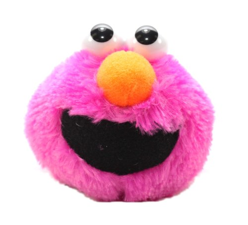 Furyu Official Sesame Street Elmo Head Plush Strap - 3303 - Magenta