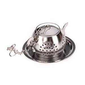 Passoire / Infuseur / Cuillère à thé En forme de Théière avec Plateau