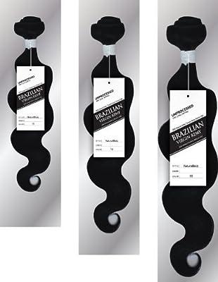 "Elizawigs 3pcs20"" 22""24"" Brazlian Virgin Remy Human Hair Body Wave Extension"