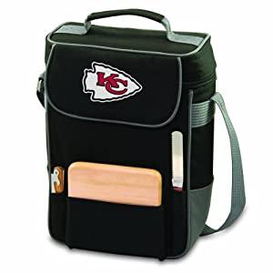 NFL Kansas City Chiefs Duet Insulated 2-Bottle Wine and Cheese Tote by Picnic Time