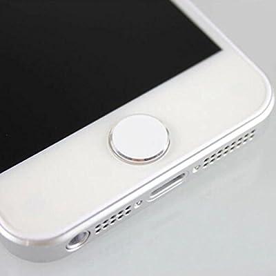 Peerless Popular Fashion Unique 1pcs iPhone Home Button Sticker Apple 5S 5C 4 4S New iPad Mini 2 3 Color White and Silver