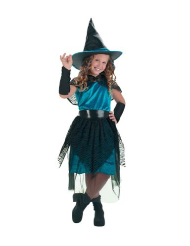 Witch Turqus Midnight 4 To 6 Kids Girls Costume