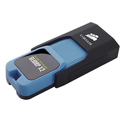 Corsair Flash Voyager Slider X2 128GB USB 3.0 Flash Drive (CMFSL3X2-128GB)