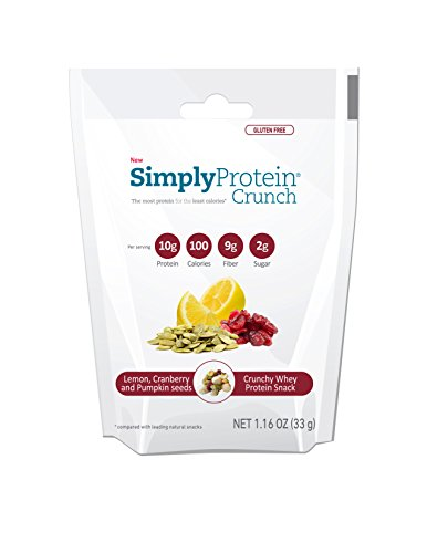 SimplyProtein Crunch, Lemon Cranberry and Pumpkin Seeds, Gluten-Free - (1.16oz, Pack of 12) (Organic Trail Mix Snack Packs compare prices)