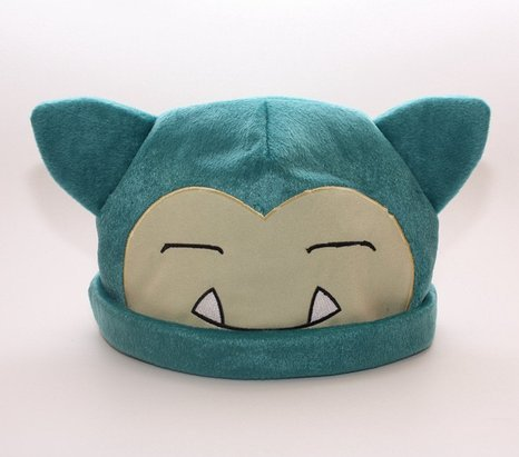 1 X Pokemon Snorlax Cosplay Soft Cute Plush Toy Cap Warm Soft Hat - 1