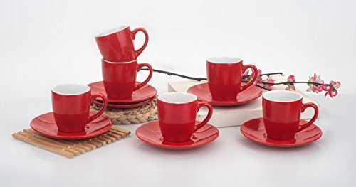 Uniware Cup (3 Oz) and Saucer Expresso Coffee Set of 6 [6999-6] (3 Oz Espresso Cups And Saucers compare prices)