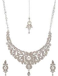 Homeoculture Non-Precious Metal Strand Necklace Set For Women (J33)