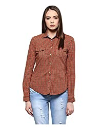 Yepme Women's Red Polyester Tops - YPWTOPS1356_XL