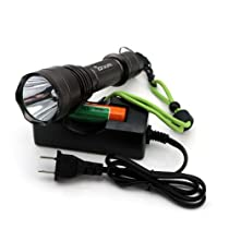 OXA 900 Lumen XML-T6 LED Flashlight with 5 Modes, Battery and Charger