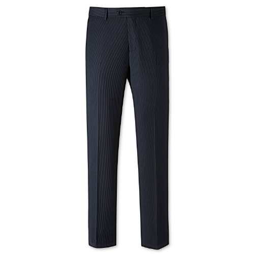 Charles Tyrwhitt Navy fine stripe tailored fit suit trouser (34W x 38L Unfinished)